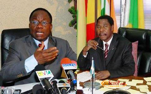 Adrien Houngbedji et Yayi Boni (président sortant)