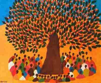 Arbre à palabre, symbole du débat en Afrique