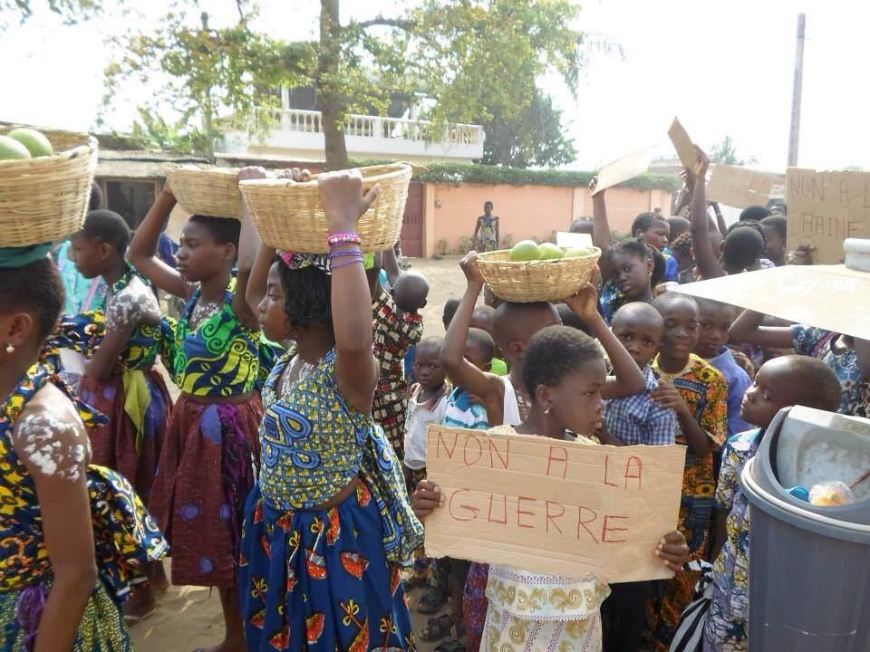 Photo prise hier lors d'une manifestation des enfants organisée à Lomé/Togo par un groupe d'amis